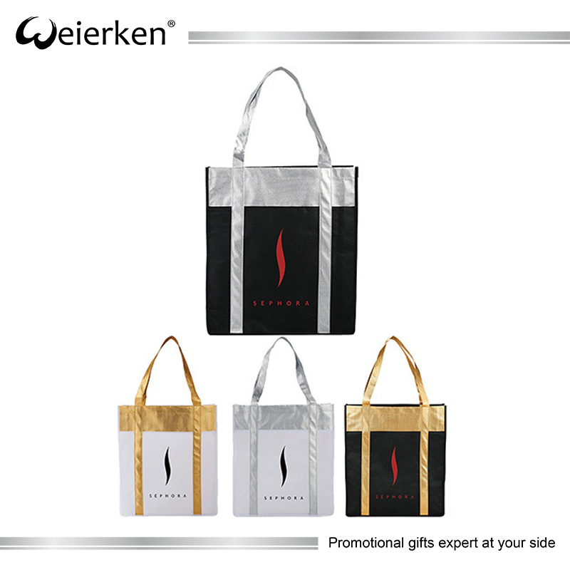 Customized Logo Printing Silk Screen Non-woven Recyclable Tote Bag