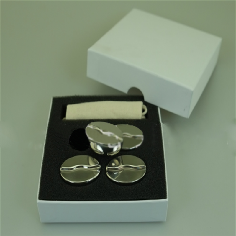 Coffee Bean Shaped Reusable Stainless Steel Whiskey Stones Ice Cube Set for Wine/Juice/Coffee