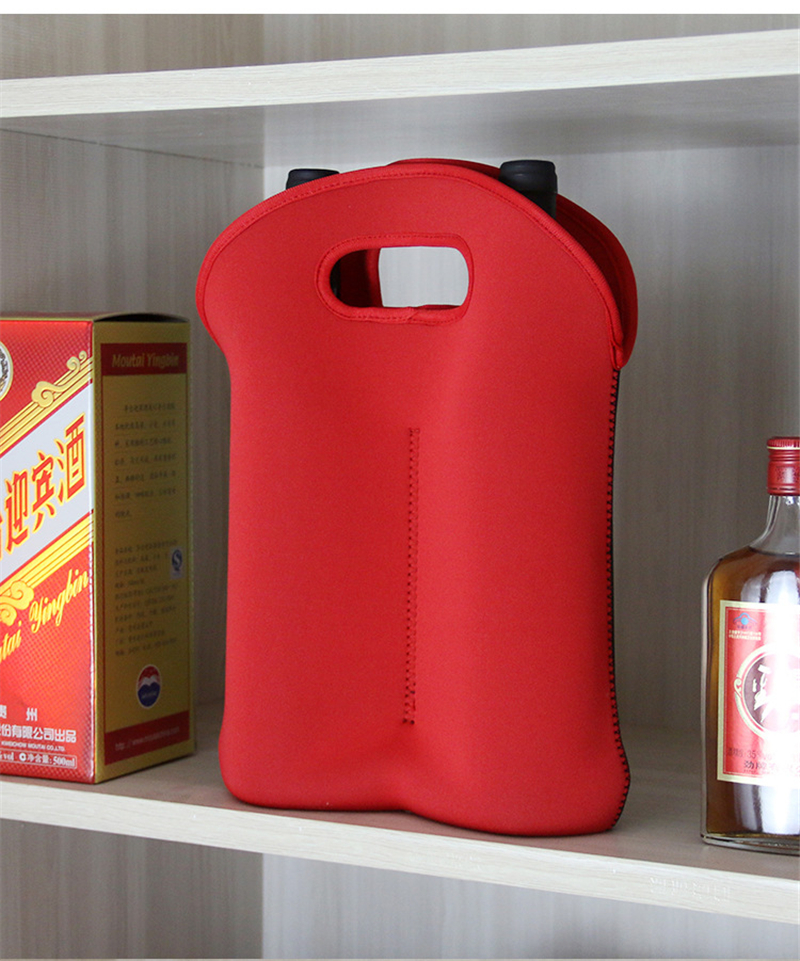 Reusable Custom Color Printing Neoprene Single Beer Bottle Cooler