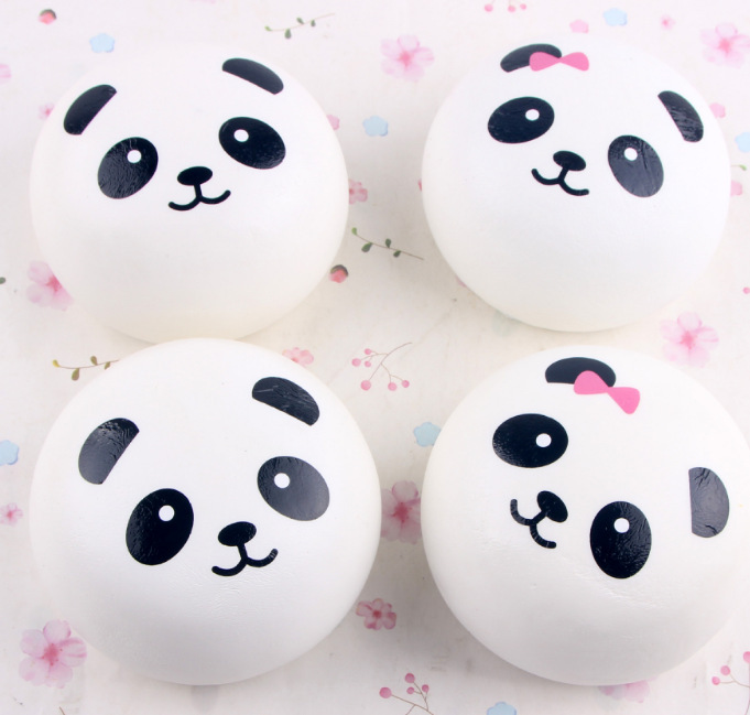 Gift Cute Panda Squishy Animal PU Toy Stress Ball And Anxiety Reducer Soft