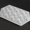 100% Food Grade Silicone Ice Cube Molds Diamond Shape Crystal Clear Ice Cube Tray