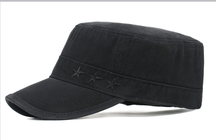 Custom High Quality 100% Cotton Flat Cap Wholesale