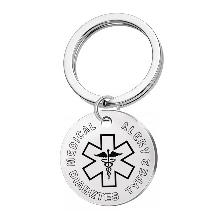 Fashion Wholesale Bulk Key Chain Custom Logo Personalized Medical Key Chain