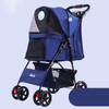 High Security Pet Carrier Dog Stroller Foldable Pet Trolley Backpack