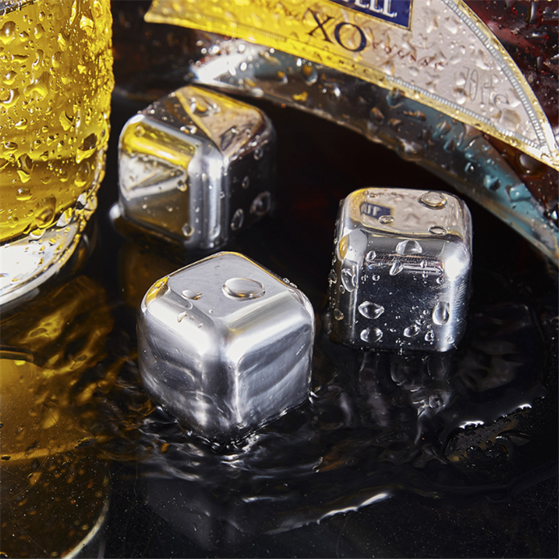 Food Grade With MSDS 304 Stainless Steel Ice Cube&Metal Ice Cube