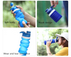 BPA Free Reusable Drinking Silicone Collapsible Sport Water Bottles With Custom Logo