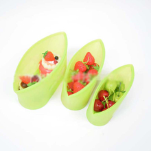 Fruits Vegetable Meats Prervation Container Stand Up Open Zip Shut Leakproof Airtight Reusable Silicone Food Storage Bags