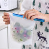Fruits Vegetable Meats Preservation Container Eco Friendly Ziplock Leakproof Snack Reusable Silicone Food Storage Bag