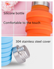 Stocked, BPA Free High Quality Expandable Folding Collapsible Travel Sports Drinking Silicone Foldable Water Bottle